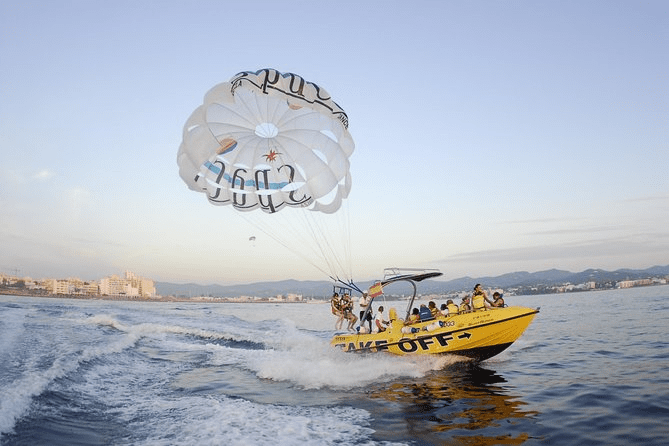 Great views of Ibiza parasailing